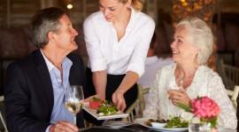 Service av bästa slag på restaurangen